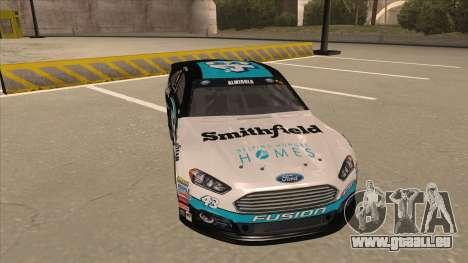 Ford Fusion NASCAR No. 43 Smithfield Foods pour GTA San Andreas laissé vue