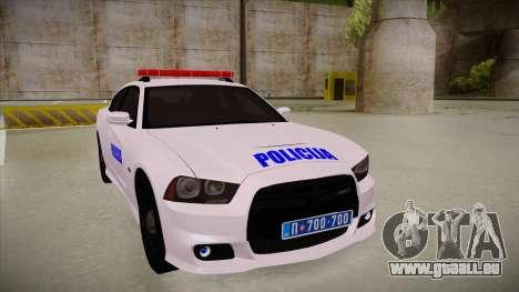 Dodge Charger SRT8 Policija für GTA San Andreas linke Ansicht