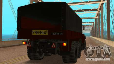 Camion auto-école v. 2.0 pour GTA San Andreas sur la vue arrière gauche