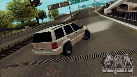 Jeep Grand Cherokee pour GTA San Andreas laissé vue