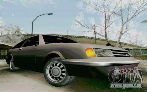 Manana Hatchback pour GTA San Andreas sur la vue arrière gauche