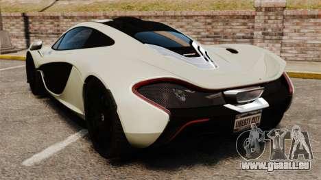 McLaren P1 [EPM] pour GTA 4 Vue arrière de la gauche