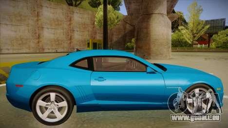 Chevrolet Camaro pour GTA San Andreas sur la vue arrière gauche