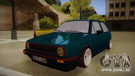Volkswagen Golf MK2 Stance Nation by Razvan11 pour GTA San Andreas