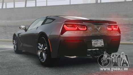 Chevrolet Corvette C7 Stingray 2014 pour GTA 4 Vue arrière de la gauche