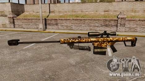 Le Barrett M82 sniper rifle v9 pour GTA 4 troisième écran
