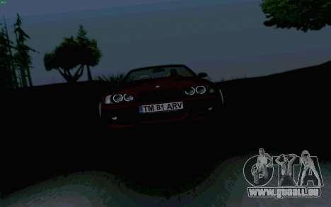 BMW M3 Cabrio für GTA San Andreas Rückansicht