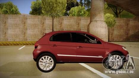 VW Gol Power 1.6 2009 pour GTA San Andreas sur la vue arrière gauche