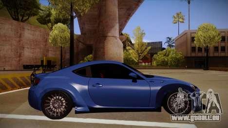 Scion FR-S Rocket Bunny pour GTA San Andreas sur la vue arrière gauche