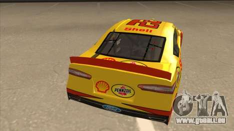 Ford Fusion NASCAR No. 22 Shell Pennzoil pour GTA San Andreas vue de droite