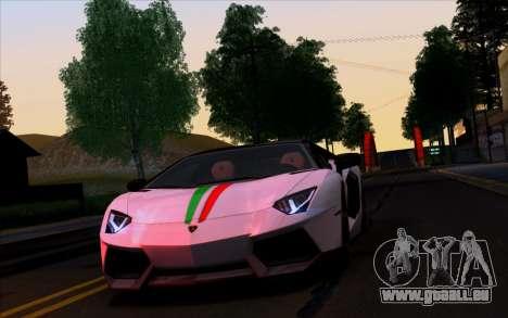 Lamborghini Aventador Vossen V2.0 Final pour GTA San Andreas vue de côté