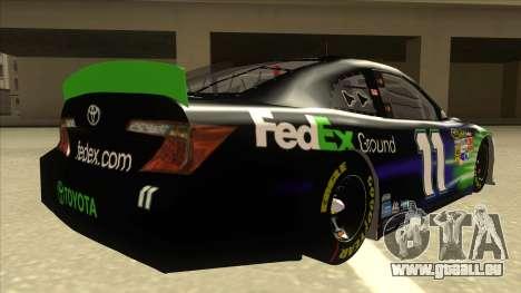 Toyota Camry NASCAR No. 11 FedEx Ground pour GTA San Andreas vue de droite