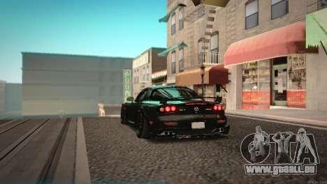 Mazda RX-7 STANCENATION für GTA San Andreas Rückansicht