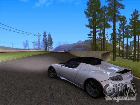 Tesla Roadster Sport 2011 für GTA San Andreas obere Ansicht