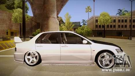 Mitsubishi EVO VIII pour GTA San Andreas sur la vue arrière gauche