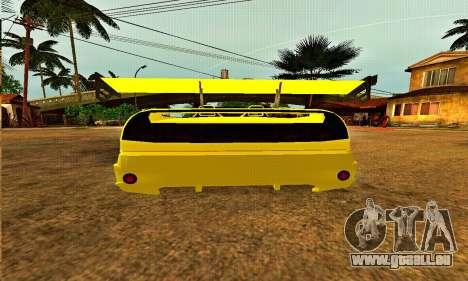 Infernus Cabrio Edition pour GTA San Andreas vue de droite