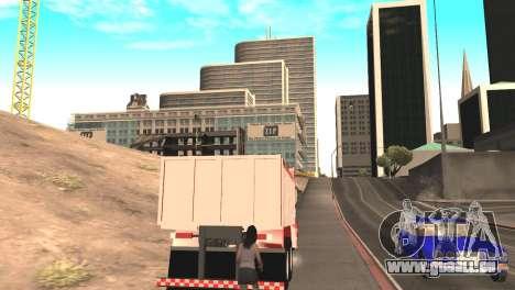 Scania 112HW pour GTA San Andreas sur la vue arrière gauche