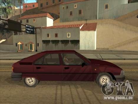 Citroën BX pour GTA San Andreas vue de droite