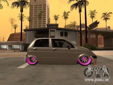 Daewoo Matiz Mexi Flush pour GTA San Andreas laissé vue