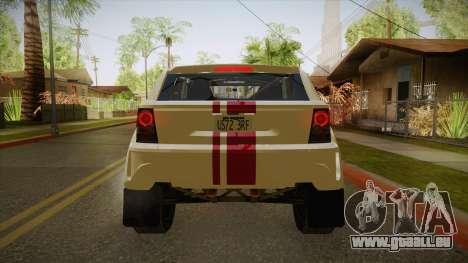 Melon EXR S 2012 FIV + AD pour GTA San Andreas vue arrière