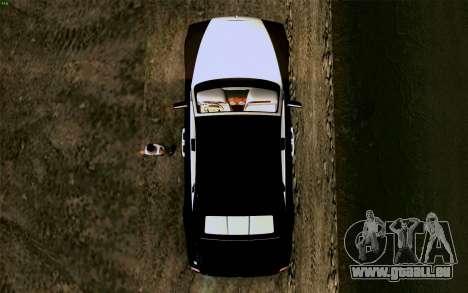 Rolls-Royce Ghost pour GTA San Andreas vue arrière