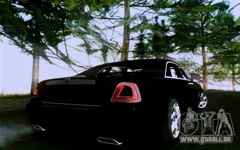 Rolls-Royce Ghost pour GTA San Andreas vue intérieure