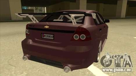 Chevrolet Aveo LT Tuning für GTA San Andreas rechten Ansicht