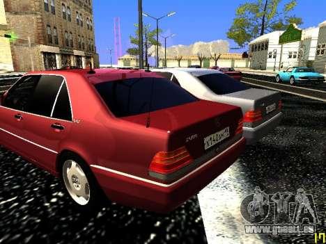 Mercedes-Benz S600 W140 für GTA San Andreas Seitenansicht