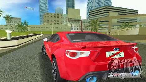 Subaru BRZ Type 1 pour GTA Vice City vue arrière