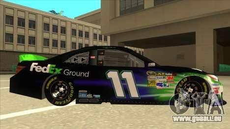 Toyota Camry NASCAR No. 11 FedEx Ground pour GTA San Andreas sur la vue arrière gauche