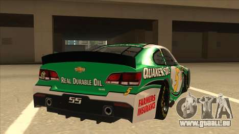 Chevrolet SS NASCAR No. 5 Quaker State pour GTA San Andreas vue de droite