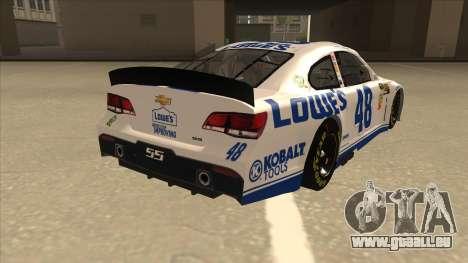 Chevrolet SS NASCAR No. 48 Lowes white pour GTA San Andreas vue de droite
