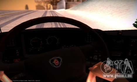 Scania R500 Topline pour GTA San Andreas vue de dessus