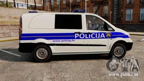 Mercedes-Benz Vito Croatian Police v2.0 [ELS] für GTA 4 linke Ansicht