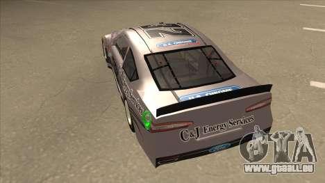Ford Fusion NASCAR No. 32 C&J Energy services pour GTA San Andreas vue arrière