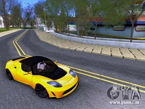 Tesla Roadster Sport 2011 pour GTA San Andreas vue de droite