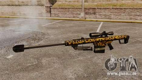 Le v12 de fusil de sniper Barrett M82 pour GTA 4 troisième écran