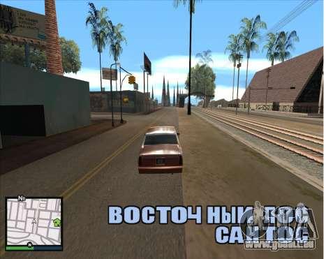 GTA 5 HUD pour GTA San Andreas deuxième écran