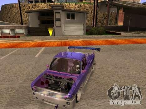 Vaz 2102 DRFT amusant pour GTA San Andreas vue intérieure