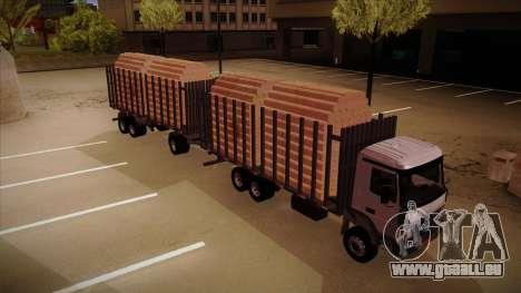 Camion semi-remorque bois pour MB 2644 trem fren pour GTA San Andreas vue de droite