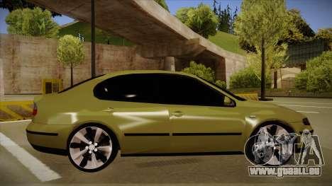 Seat Toledo German Style pour GTA San Andreas sur la vue arrière gauche