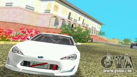 Subaru BRZ Type 4 pour une vue GTA Vice City de la gauche