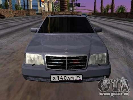 Mercedes-Benz S600 W140 für GTA San Andreas rechten Ansicht