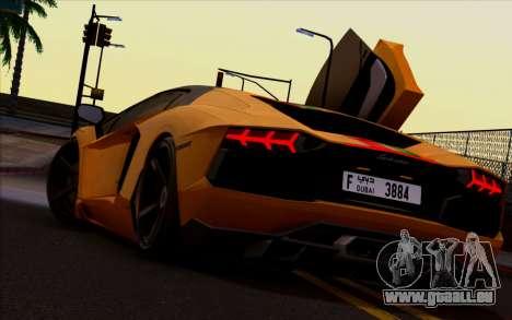 Lamborghini Aventador Vossen V2.0 Final pour GTA San Andreas vue de droite