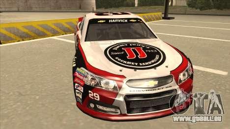 Chevrolet SS NASCAR No. 29 Jimmy Johns pour GTA San Andreas laissé vue