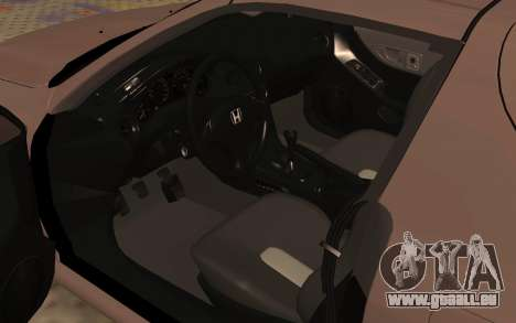 Honda CRX DelSol TMC pour GTA San Andreas vue arrière