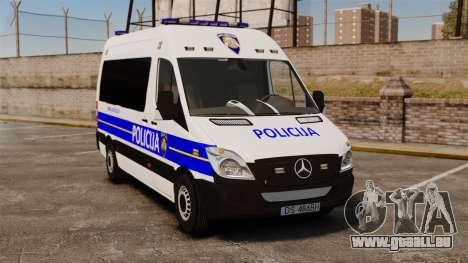 Mercedes-Benz Sprinter Croatian Police [ELS] pour GTA 4
