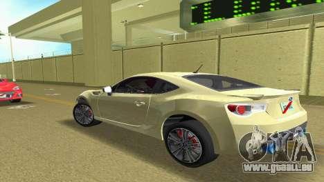 Subaru BRZ Type 1 für GTA Vice City rechten Ansicht