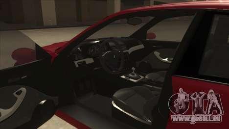 BMW M3 Tuned pour GTA San Andreas vue intérieure