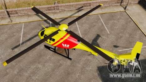 Westpac Rescue Australia pour GTA 4 Vue arrière de la gauche
